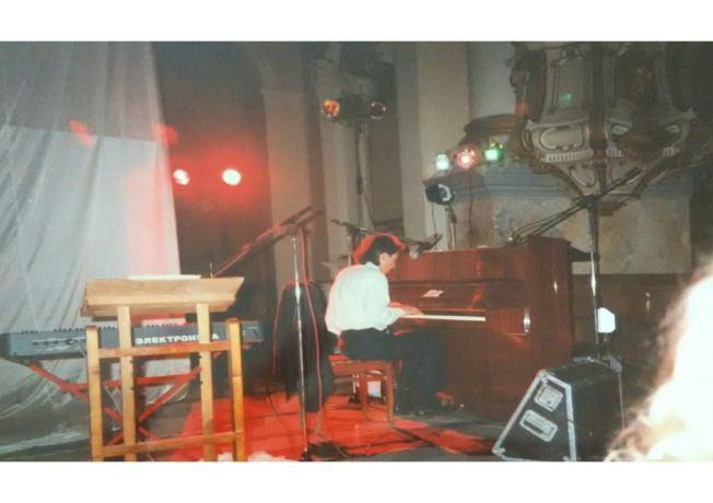 Record release show, Lviv, 1996_
