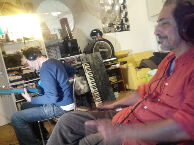 Minister Arto Lindsay recording @ Studio Salaam w/ Niktus